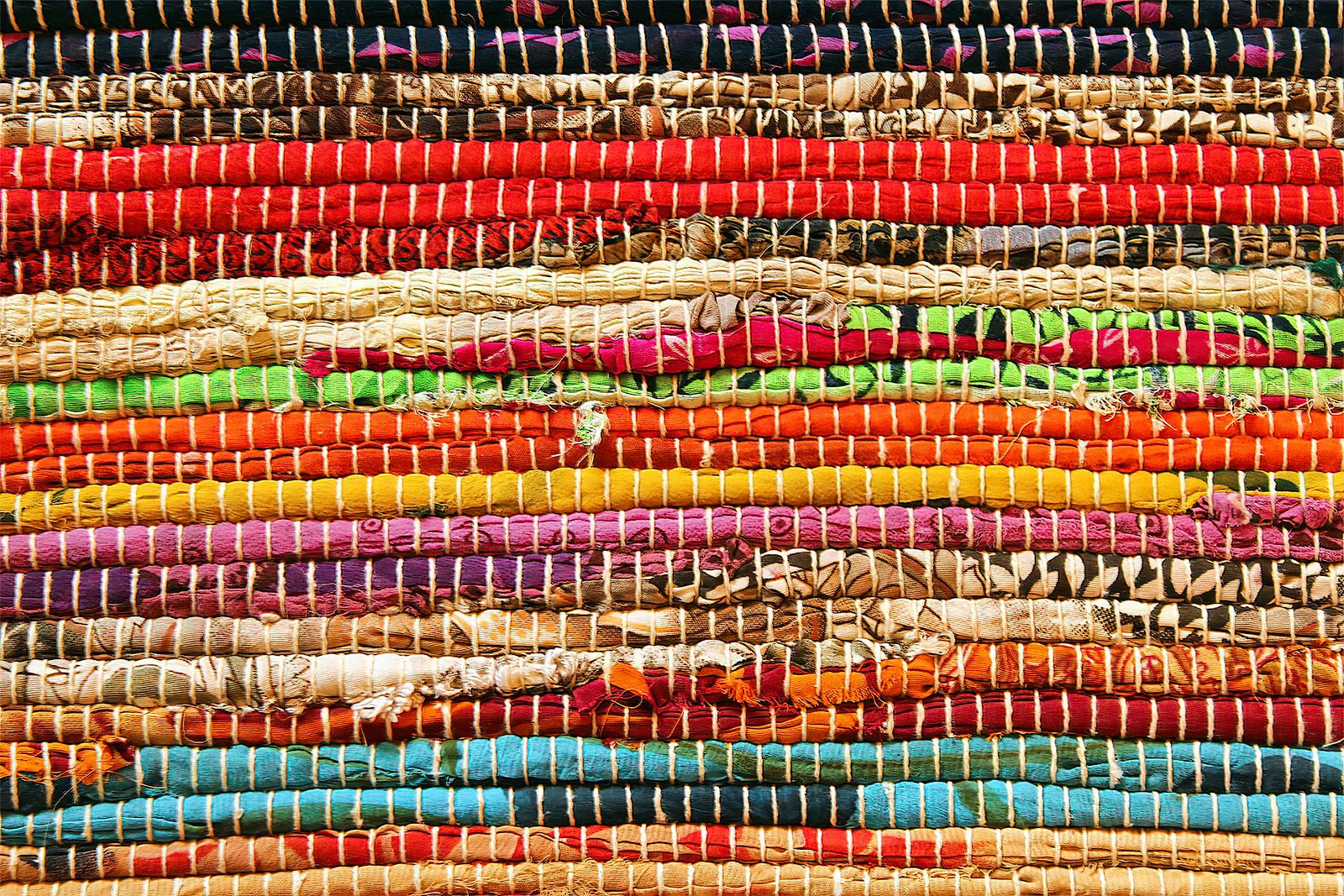 Colorful Roped Throw Rug