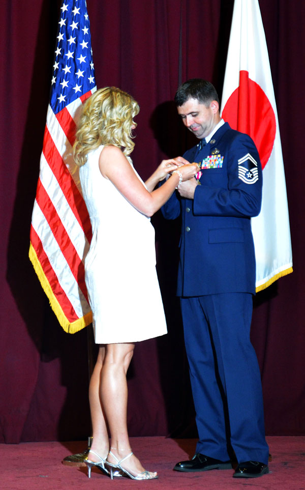 Eddy Cumins with Vivian at Military Retirement