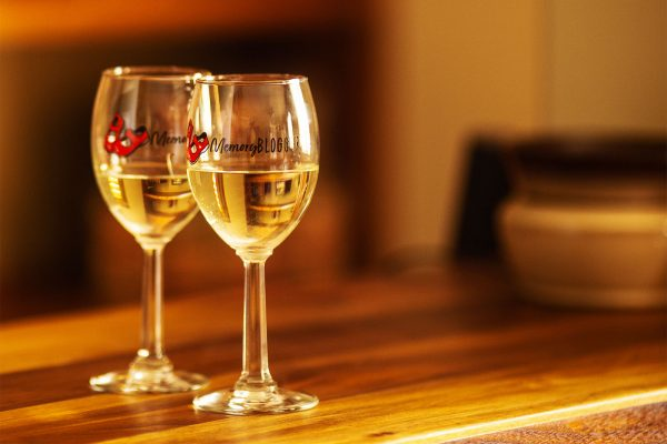 MemoryBlogger Wine Glasses (Pair)