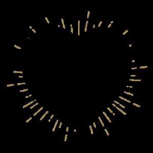 Heart Tree Rings Illustration