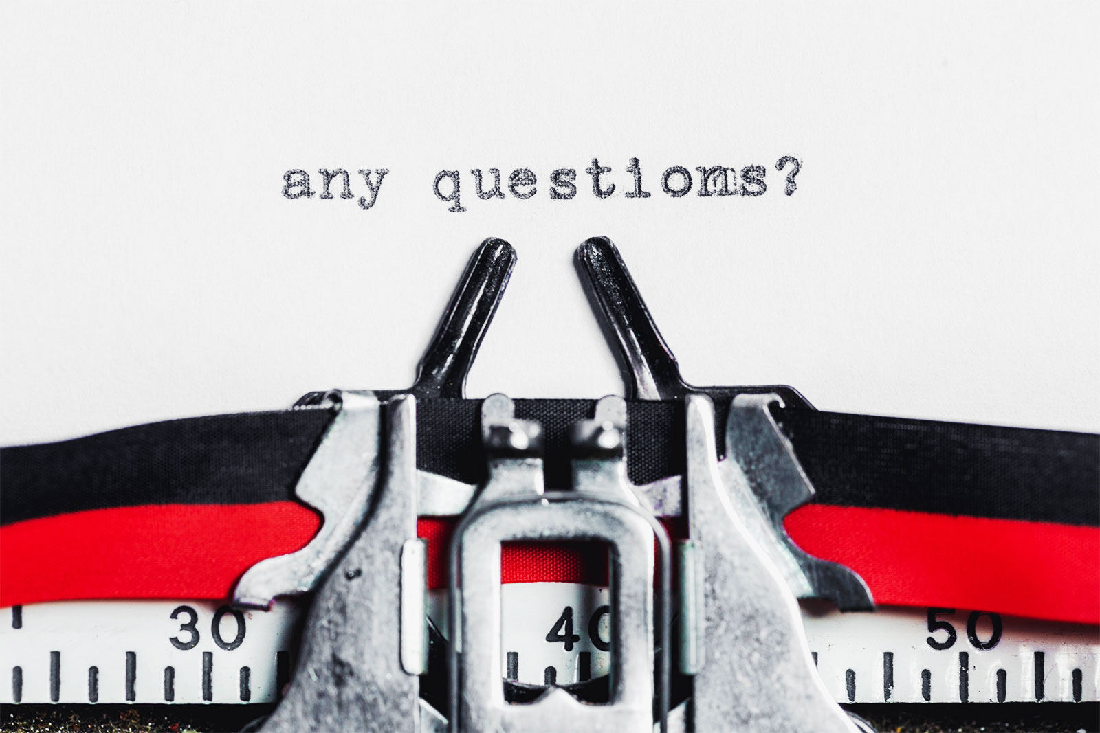 Any Questions Typewriter