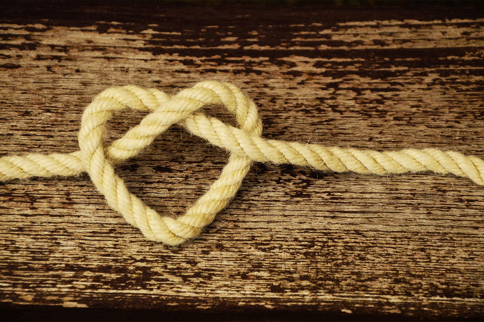 Heart Rope Tied Together